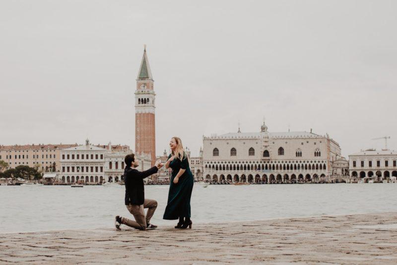 Proposta di matrimonio a Venezia - piazza san marco