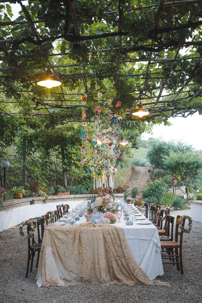 Italian Style Wedding nelle Marche - Grottammare - banchetto nuziale- styled table