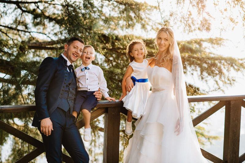 Coppia italiana matrimonio sul Lago di Como